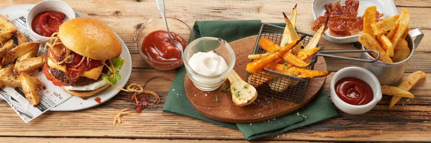 Develey Produkte Ketchup, Mayo, Senf und Dressings