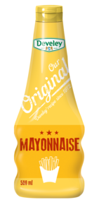 Our Original Mayonnaise in der 500ml Squeeze-Flasche, vegetarisch, pommes, pommes-soße, pommes-sauce