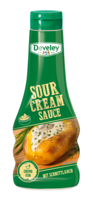 Sour-Cream-Sauce von Develey in der 250ml Squeeze Flasche
