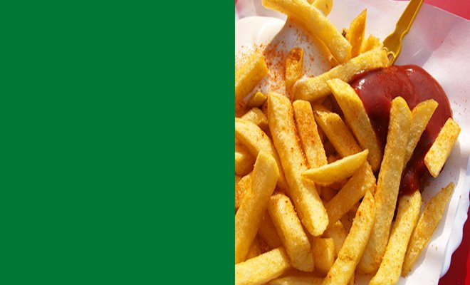 Pommes mit Ketchup - Unser Original Curry Ketchup